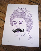 Image of QUEEN - PURPLE SCREEN PRINT (420x500MM)