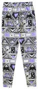 Image of Stamp Sheet Print Leggings (lilac x black)