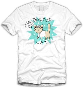 Doctor Cat T-shirt - Womens Sizes