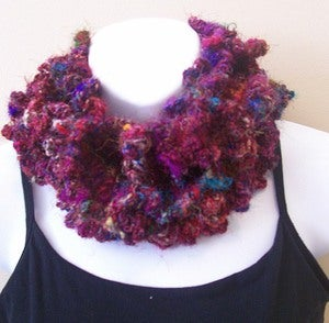 Image of Sari Silk Cowl with Buttons Pattern By Chriss!
