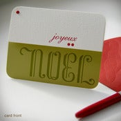 "Image of ""Joyeux Noel"" Holiday Card {#127}"