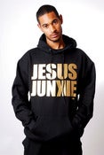 Image of JJ ORIGINAL BLACK/GOLD LOGO HOODY - Unisex