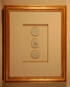 "Image of Framed Intaglios - ""Davis"" Design"
