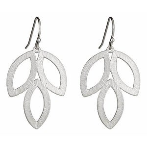 Image of Silver Lotus Earrings