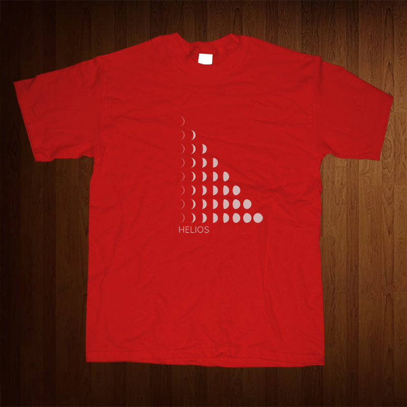 Image of Helios | &quot;Moons&quot; shirt (Red)