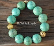 Image of Chunky Turquoise and Gold