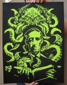 Image of LoveCthulhu 18 x 24 screen printed art poster