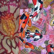 Image of Red Koi Collage