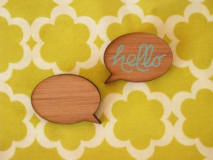 Image of Speech Bubble Brooch