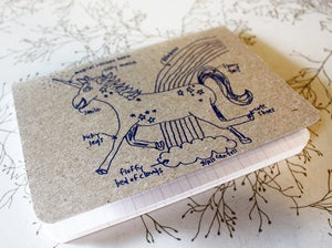 Image of Magical unicorn pocket notebook