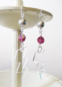 Image of Clear High Voltage Earrings [Available in 4 colors]