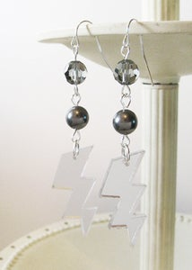 Image of Silver High Voltage Earrings [Available in 4 colors]