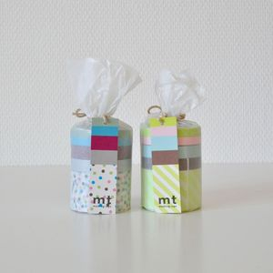 Image of Set de masking tape sweet pois et rayé