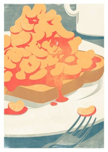 Image of Beans on Toast         50x70cm