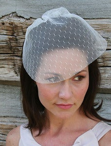 Image of Ivory honeycomb blusher veil