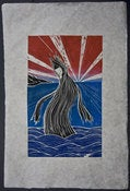 Image of Woodblock Print: Alex Diamond | Dancer (Into The Night WP#03)