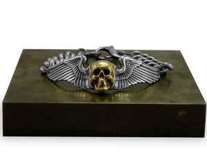 "Image of ""Skull"" Wing Wrap Identification Bracelet"