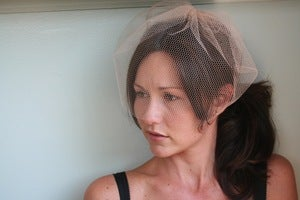 Image of Honeycomb netting birdcage veil
