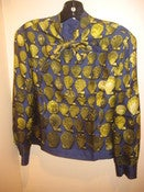 Image of VTG Hermes Silk Shell Blouse SZ 44/10