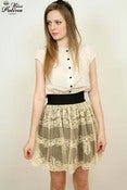 Image of Handmade Limited Edition Rococo Lace Pattern Skirt