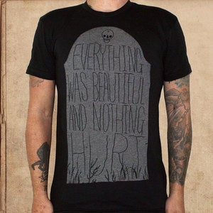 Image of Everything was beautiful grave - Vonnegut - discharge ink - restocked