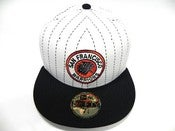 "Image of SAN FRANCISCO WARRIORS ""PINSTRIPE"" NEW ERA FITTED (EXCLUSIVE)"