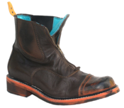 Image of No.0009 INTERCHANGE front zip boot Dark Brown