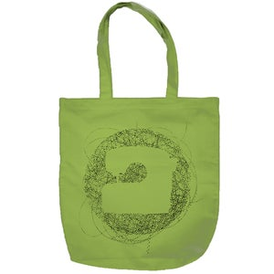Image of PRINTED BAG - GREEN - KÜTU FOLK RECORDS