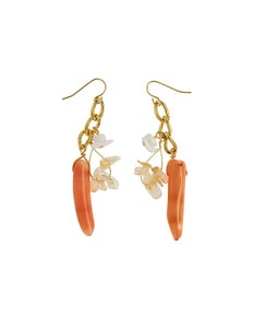 Image of Rare c1950 Coral Earrings