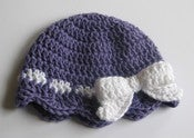 Image of Wrapped in Love Crochet Beanie Pattern with Bow PDF 077