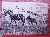 Image of Happy Mother's Day Zebra card