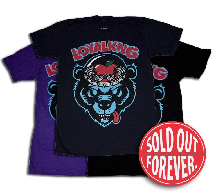 Image of Gravestein Bear (Navy/Purple/Black)
