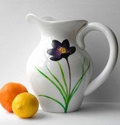 Image of Purple Crocus Pitcher-Limited Edition