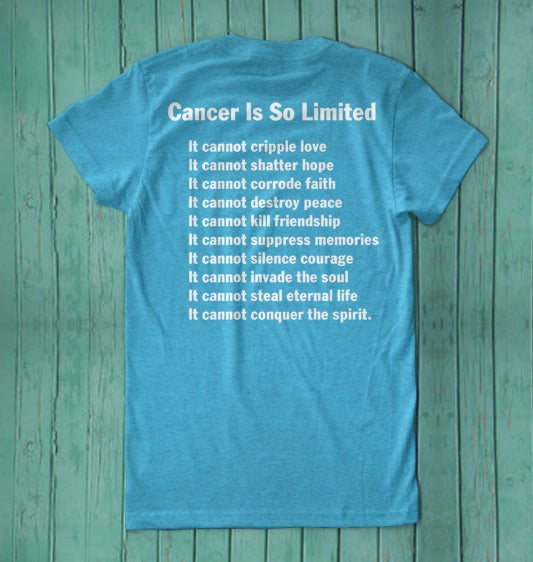 Image of Athletic Blue f*ck cancer t-shirt