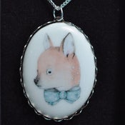 Image of Deer with Blue Bow Tie Necklace