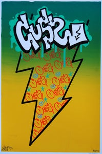 "Image of CUSS 12""x18"" Serigraph - Limited Edition of 100"