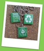 Image of Go Green Scrabble Tile Pendants