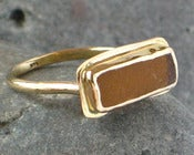 Image of Amber Seaglass Ring