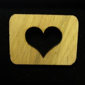 Image of Wood Heart Brooch