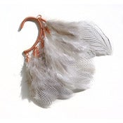 Image of Ear cuff with silver pheasant feathers