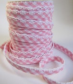 Image of Pink Gingham Double Fold Bias Tape