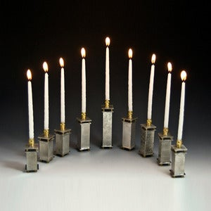 Image of Modular Pewter Menorah
