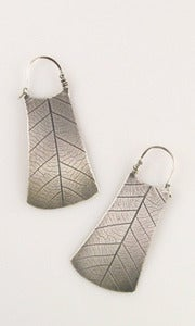 Image of Large Rectangle Demilune Earrings