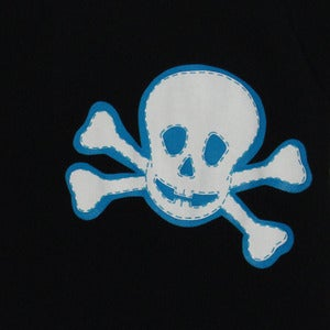 Image of SKULL ONESIE BLUE