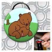 Image of Big ass bear keychain bottle opener