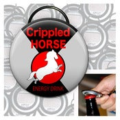 Image of Crippled Horse keychain bottle opener