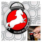 Image of Fuck your shit keychain bottle opener