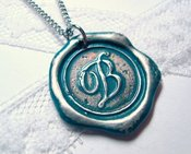 Image of Teal Wax Seal Pendant by Ritzy Misfit