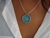 Image of Turquoise Wax Seal Pendant by Ritzy Misfit
