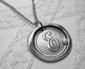 Image of Classic Wax Seal Pendant with Pearl Embellishment